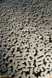 Pêle-mêle des lettres Image libre de droits