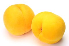 Pêssego amarelo Fotografia de Stock Royalty Free