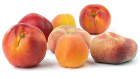 Pêssego, nectarina, abricó imagens de stock royalty free