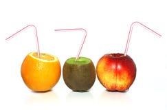 Pêssego, quivi e laranja Imagens de Stock