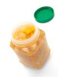 Pêssegos e peras imagem de stock