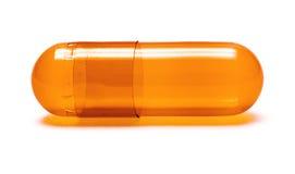 Píldora anaranjada fotos de archivo libres de regalías