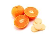 Píldora de la vitamina C imagen de archivo libre de regalías