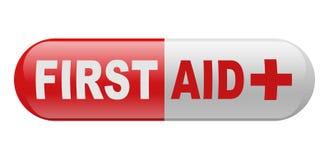Píldora de los primeros auxilios Fotografía de archivo