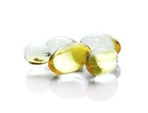 Píldora del aceite de pescado Imagen de archivo libre de regalías