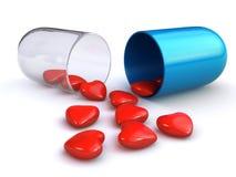 Píldora del amor Imagenes de archivo