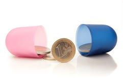 Píldora del dinero Fotos de archivo