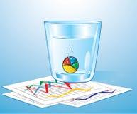 Píldora del gráfico de sectores stock de ilustración