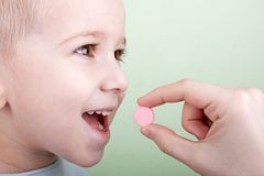 Píldora del niño Fotos de archivo libres de regalías