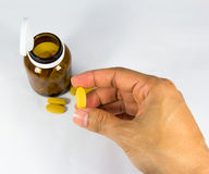 Píldora a disposición Imagen de archivo