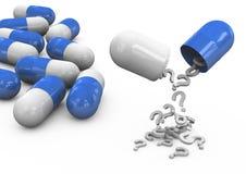 píldoras 3d en un fondo blanco Imagen de archivo