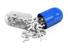 píldoras 3d en un fondo blanco Imagen de archivo libre de regalías