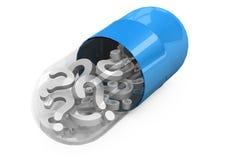 píldoras 3d en un fondo blanco Fotografía de archivo