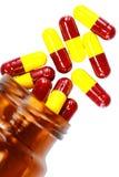 Píldoras aisladas Imagen de archivo
