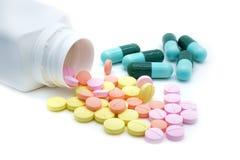 Píldoras aisladas Foto de archivo