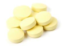 Píldoras amarillas foto de archivo