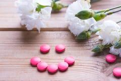 Píldoras anticonceptivas Fotografía de archivo libre de regalías
