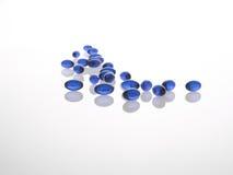 Píldoras azules del gel Fotos de archivo libres de regalías