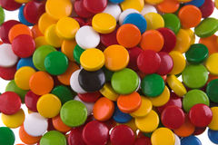 Píldoras coloreadas Foto de archivo libre de regalías