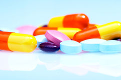 Píldoras coloridas Imagen de archivo