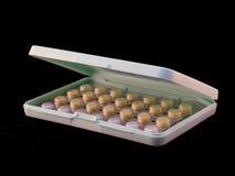 Píldoras de control de la natalidad Imágenes de archivo libres de regalías