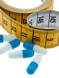 Píldoras de la dieta Foto de archivo libre de regalías