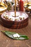 Píldoras de la homeopatía Fotos de archivo libres de regalías