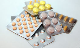 Píldoras de la medicación Foto de archivo libre de regalías