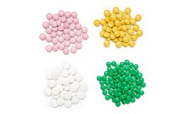 Píldoras de la medicina del od del montón Fotos de archivo