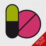 Píldoras de la medicina - iconos del vector - aisladas en fondo transparente libre illustration