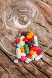 Píldoras de la mezcla Fotos de archivo