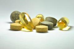 Píldoras de la salud imagenes de archivo