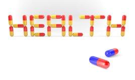 Píldoras de la salud ilustración del vector