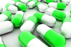 Píldoras de la variedad Cápsulas de la vitamina 3d Fotos de archivo libres de regalías