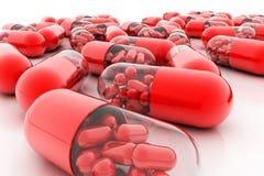 Píldoras de la variedad Cápsulas de la vitamina 3d Fotografía de archivo libre de regalías