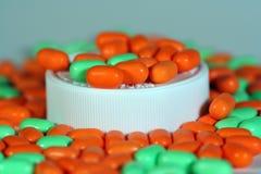 Píldoras de la vitamina Foto de archivo libre de regalías