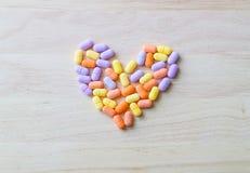 Píldoras de la vitamina Fotografía de archivo libre de regalías