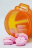 Píldoras de las tabletas Imagenes de archivo
