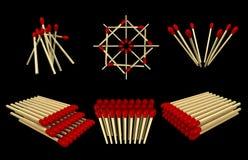 Píldoras de los Matchsticks Imagen de archivo libre de regalías