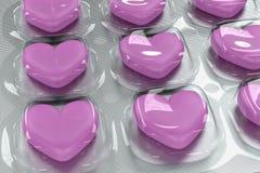Píldoras del amor Fotografía de archivo libre de regalías