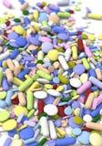 Píldoras del color Fotos de archivo libres de regalías