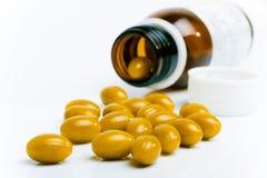Píldoras del polen Imágenes de archivo libres de regalías
