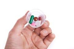 Píldoras a disposición Imagen de archivo