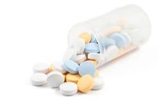 Píldoras en blanco Foto de archivo libre de regalías