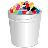Píldoras en capacidad Fotos de archivo libres de regalías