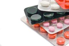 Píldoras en conjuntos imagenes de archivo