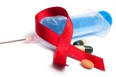 Píldoras en el VIH Foto de archivo libre de regalías