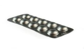 Píldoras en paquete Imagen de archivo libre de regalías