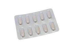 Píldoras en sola ampolla Foto de archivo libre de regalías
