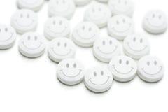 Píldoras felices Foto de archivo libre de regalías